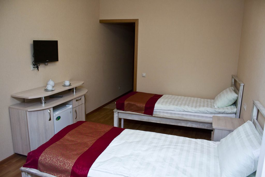 Вместительный стандарт двухместный в гостинице Велес
